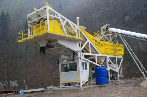 мобилен бетонов възел 60 м3/ч.