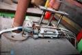 Пневматична машина /полуавтомат/уред за едностранно залепване на целофанови ръкави за да стане плик