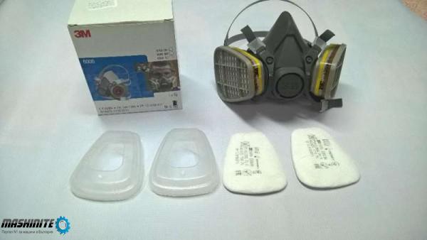 3 M прахова маска,маски с пълен комплект филтри.Моде ...