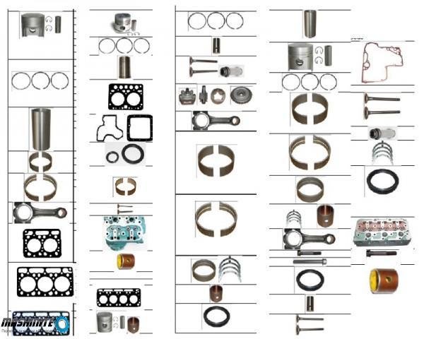 Yanmar резервни части за двигатели