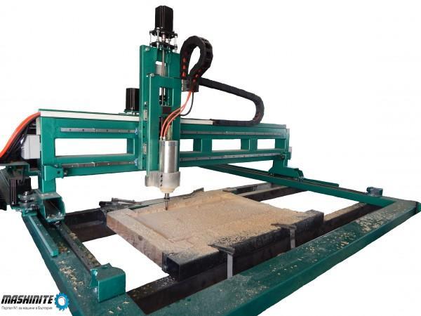 CNC / ЦПУ Рутер 1800/1500 с хибридни мотори, подсиле ...