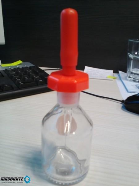Стъклена  бутилка с пипета vol 60 ml