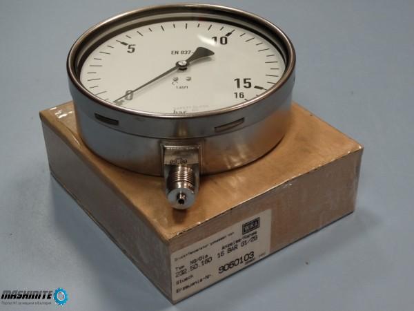 Манометър WIKA Ф160 mm, 16bar