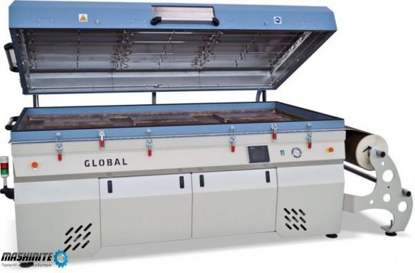 вакуум преса Global за 3D ламиниране с PVC фолио