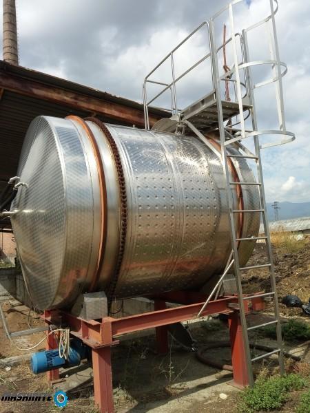Ротационен хоризонтален ферментатор 100HL