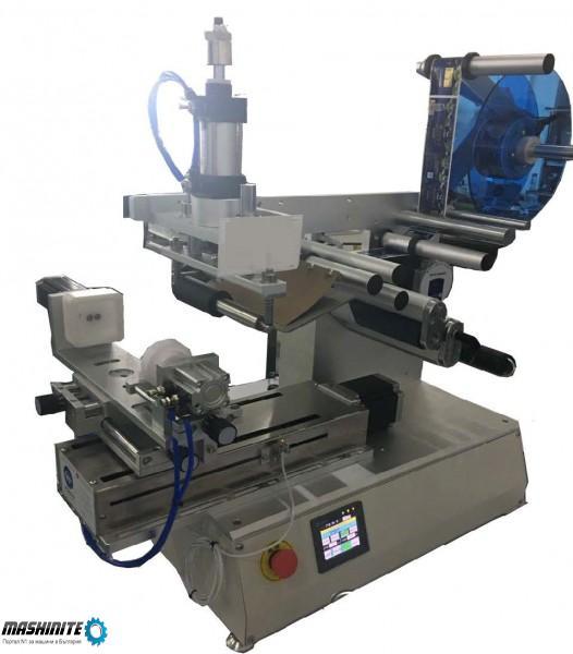 Полуавтоматична етикетираща машина за квадратни бути ...