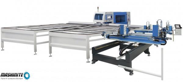 Четириглава залепваща и CNC зачистваща автоматична л ...